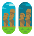 Flat design moai easter vector image vector image
