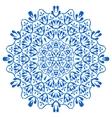 Gzhel circular pattern vector image