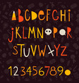halloween letters vector image vector image