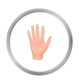 Hand icon in cartoon style isolated on white vector image vector image
