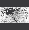 harbin china city map in black and white color in vector image vector image