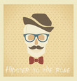 hipster to the bone vector image