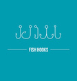 Hooks vector image vector image