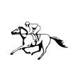Horse and Jockey Racing Retro vector image vector image