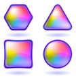 icons buttons rainbow set round vector image vector image
