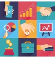 icons in flat style - finance and business vector image vector image