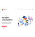 isometric big data analysis visualization landing vector image vector image