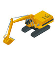 isometric hydraulic excavator isolated on white vector image vector image