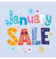 January sale vector image vector image