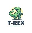 logo t-rex simple mascot style vector image