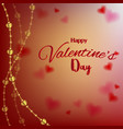 love valentines day card with hearts on blurred vector image vector image
