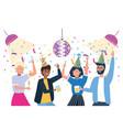 men and women in celebration design vector image