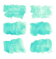 mint watercolor background pastel watercolor vector image vector image