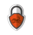 motorcycle insurance isolated icon vector image vector image