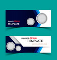 multipurpose layout banner design2 vector image