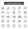online advertising line icons signs set vector image vector image