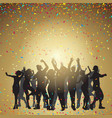 party people on a confetti background vector image vector image