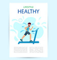 poster healthy lifestyle adult male runs vector image vector image