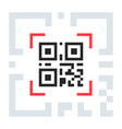 qr code sample for smartphone scanning vector image