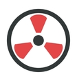 Radiation warning attention sign icon vector image vector image