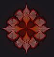 Red flower background fraktal vector image vector image