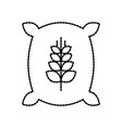 sack bag of wheat flour grain farm vector image vector image