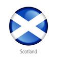 scotland round button flag vector image vector image