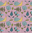 seamless forest pattern with color vector image vector image