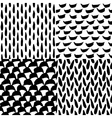Seamless ink and brush pattern vector image vector image