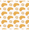 Seamless pattern of croissant vector image