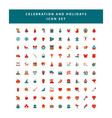 set celebration and holidays icon set vector image vector image