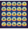 Set honeyed buttons for web video game in style vector image vector image