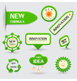 set of green new formula labels vector image vector image