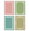 set of vintage frames decorative border corners vector image