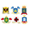simple heraldic set vector image vector image
