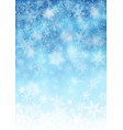 snowfall background for christmas and new year vector image vector image