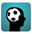 Soccer ball brains vector image vector image
