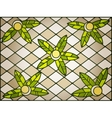 Stained glass background vector image vector image