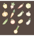 Stickers Contours Vegetables vector image