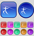 Summer sports Javelin throw icon sign A set of vector image