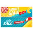 summer super sale banners set vector image vector image