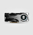 technology graphics card video card gpu graphics vector image vector image