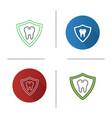 teeth protection icon vector image vector image