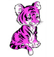 tiger color inscription on vector image