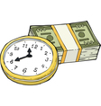 time and money vector image vector image