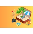 Trip to Summer holidays Travel to Summer holidays vector image vector image