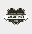 valentines day badges and stickers vector image vector image