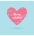 Valentines day lettering Love text Grunge heart vector image vector image