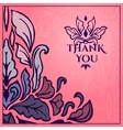 Vintage card with lettering Thank you vector image