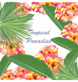 Watercolor Tropical floral Paradise card vector image vector image